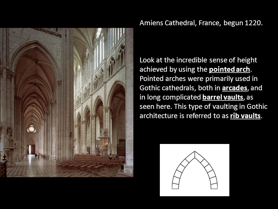Pointed Arches In Gothic Architecture 30 Amiens Cathedral