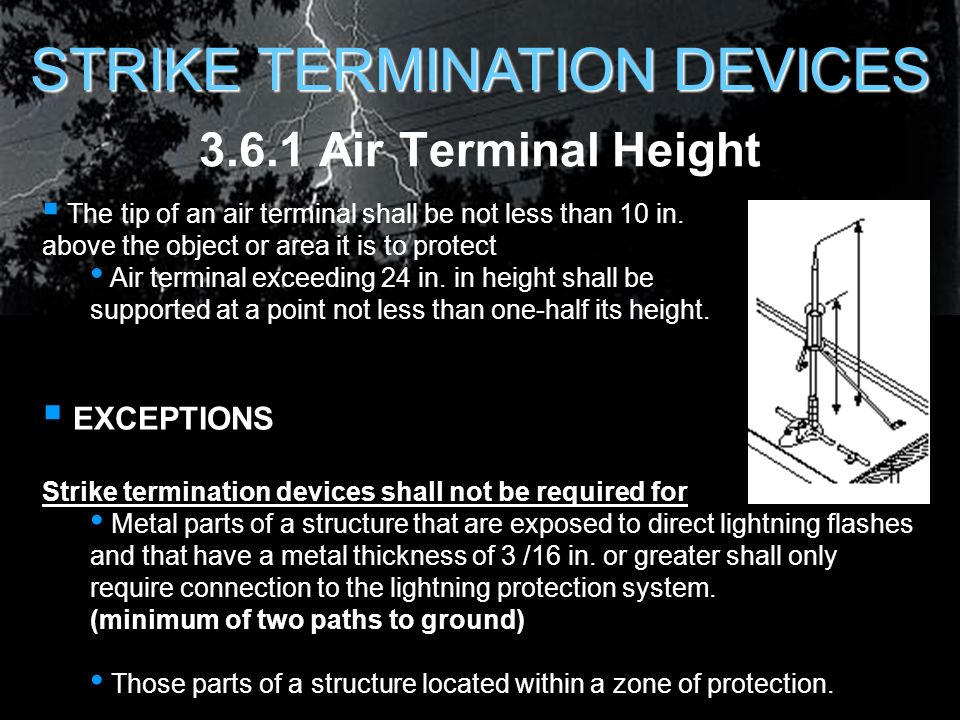 LIGHTNING PROTECTION for AIR FORCE FACILITIES - ppt download