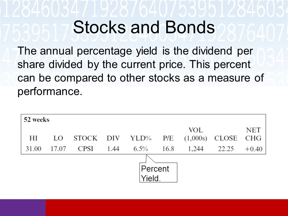 Math In Our World Section 86 Stocks And Bonds Ppt Video Online