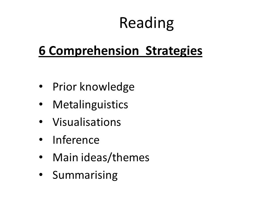 powerpoint presentation on reading comprehension