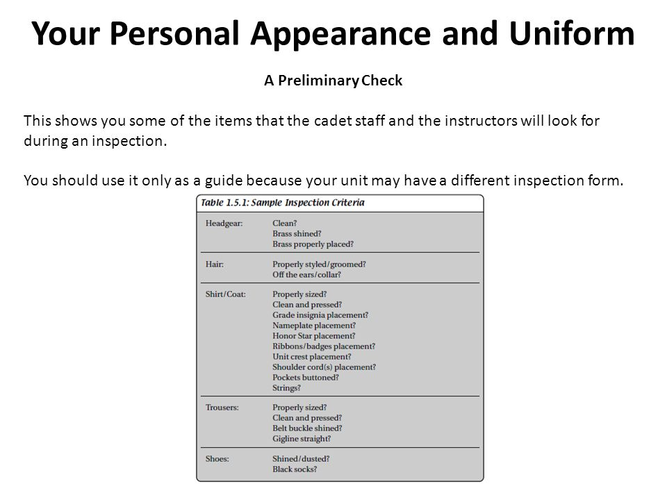 Your Personal Appearance and Uniform  - ppt video online