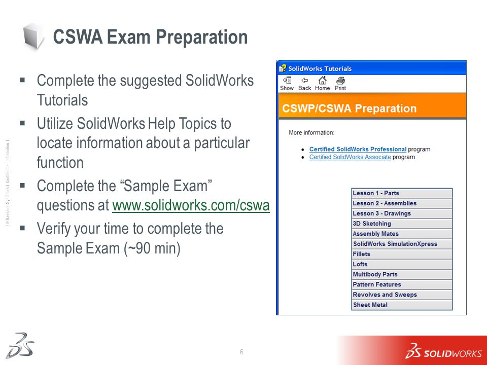 Student Overview for the Certified SolidWorks Associate (CSWA ...