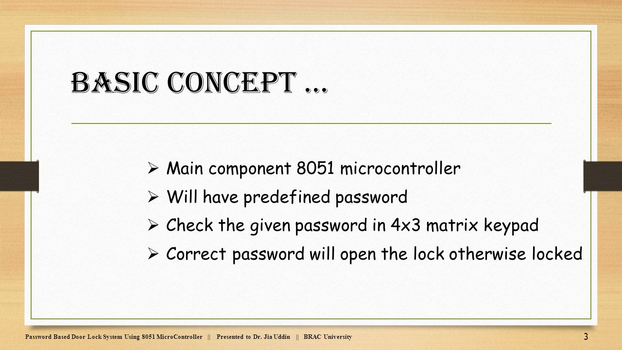 Password Based Door Lock System Using 8051 Microcontroller Ppt Rfid Access Control Electronic Circuits Main Component 4 Pin Diagram Circuit Design