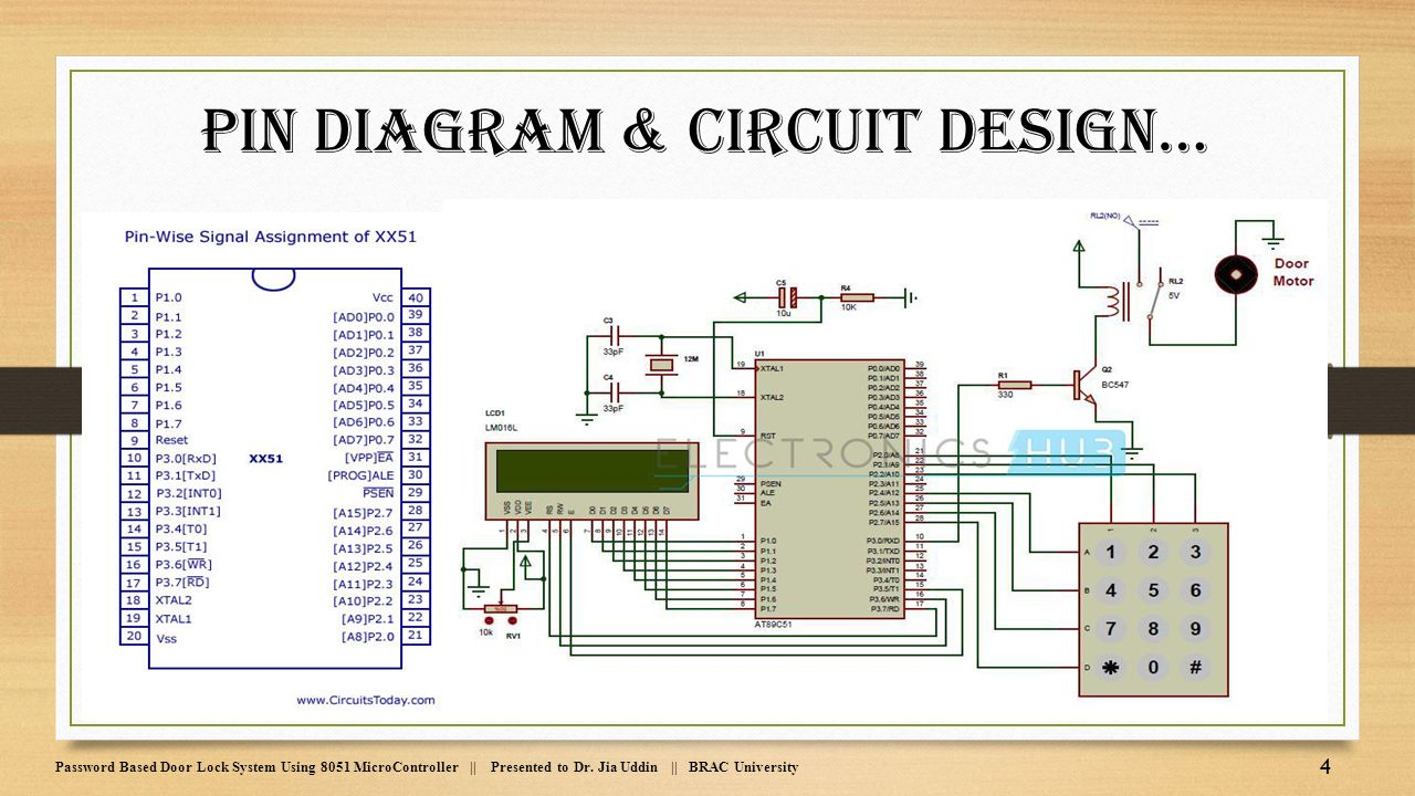 8051 Microcontroller Crystal Circuit