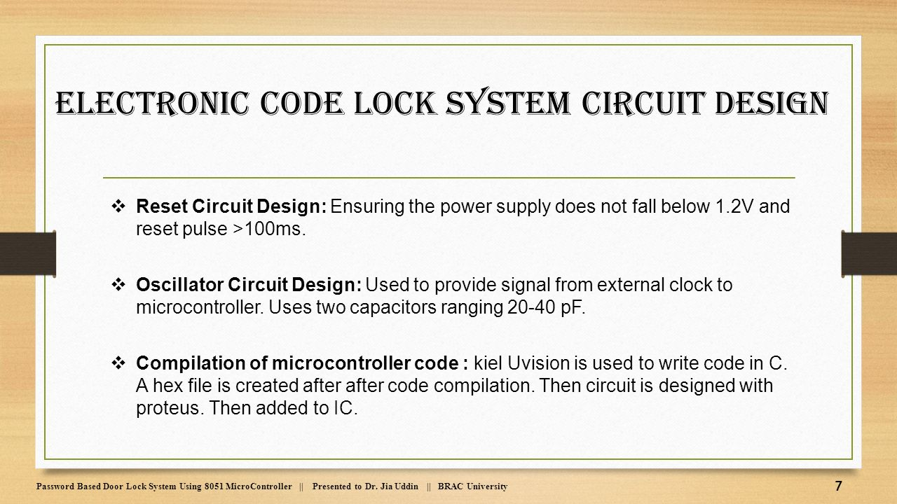 Password Based Door Lock System Using 8051 Microcontroller Ppt Made In Proteus Shows The Required Circuit Electronic Code Design