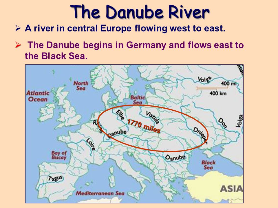 Map Of The Danube River In Europe   casami