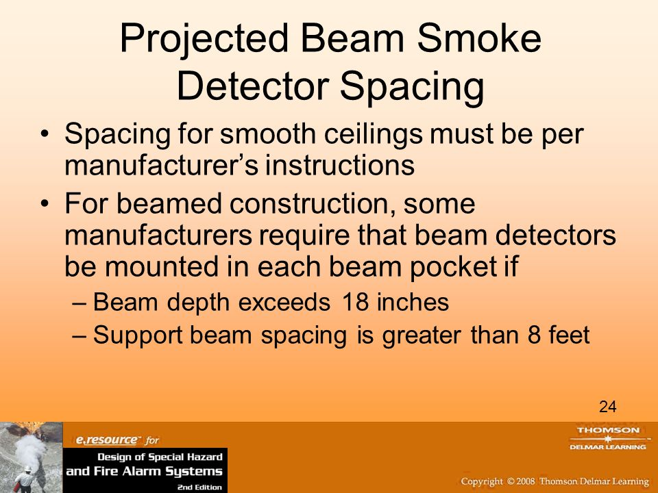 projected beam smoke detector spacing