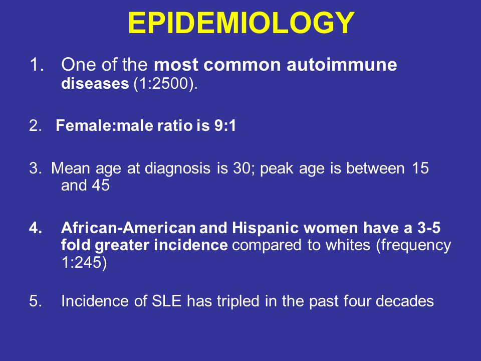 Systemic Lupus Erythematosus Ppt Video Online Download