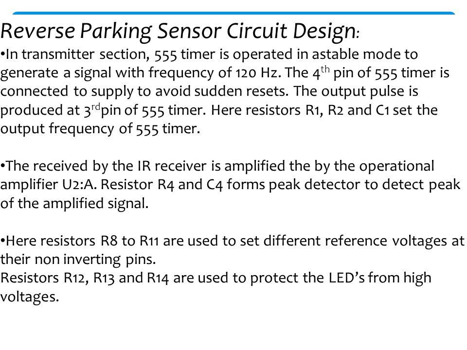 Reverse Parking Sensor Circuit Ppt Download