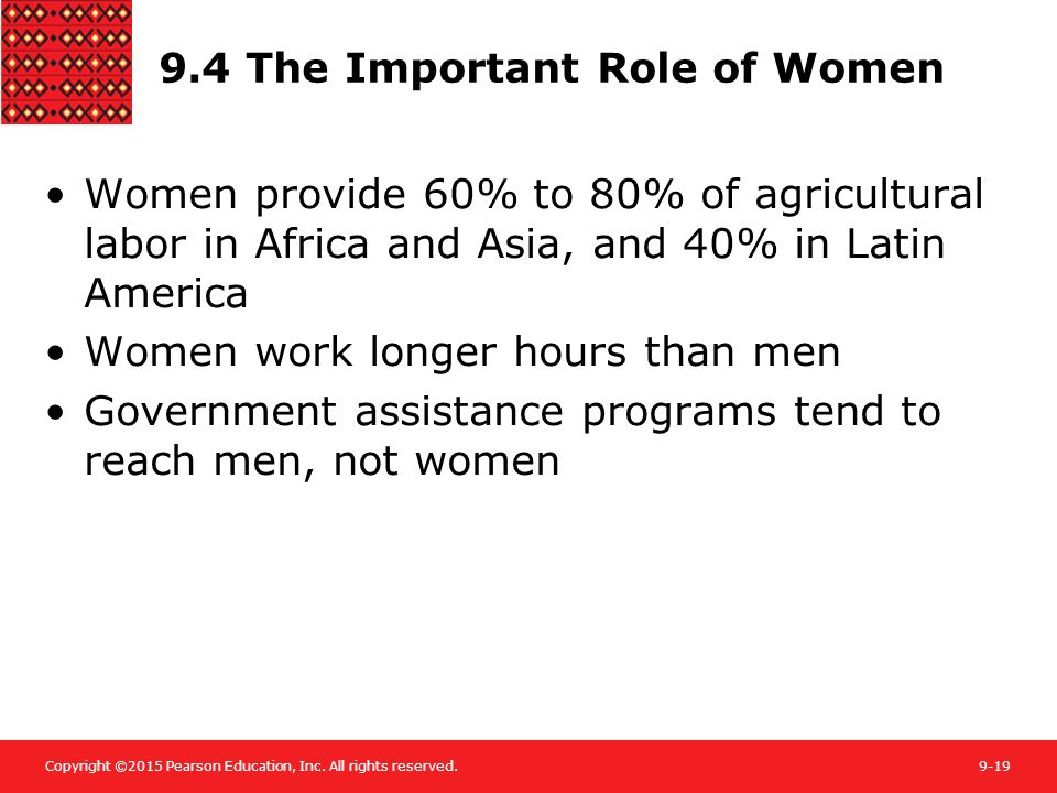 9.4 The Important Role of Women