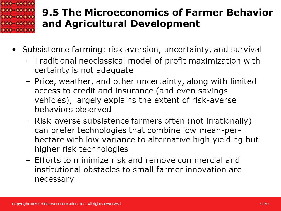 9.5 The Microeconomics of Farmer Behavior and Agricultural Development