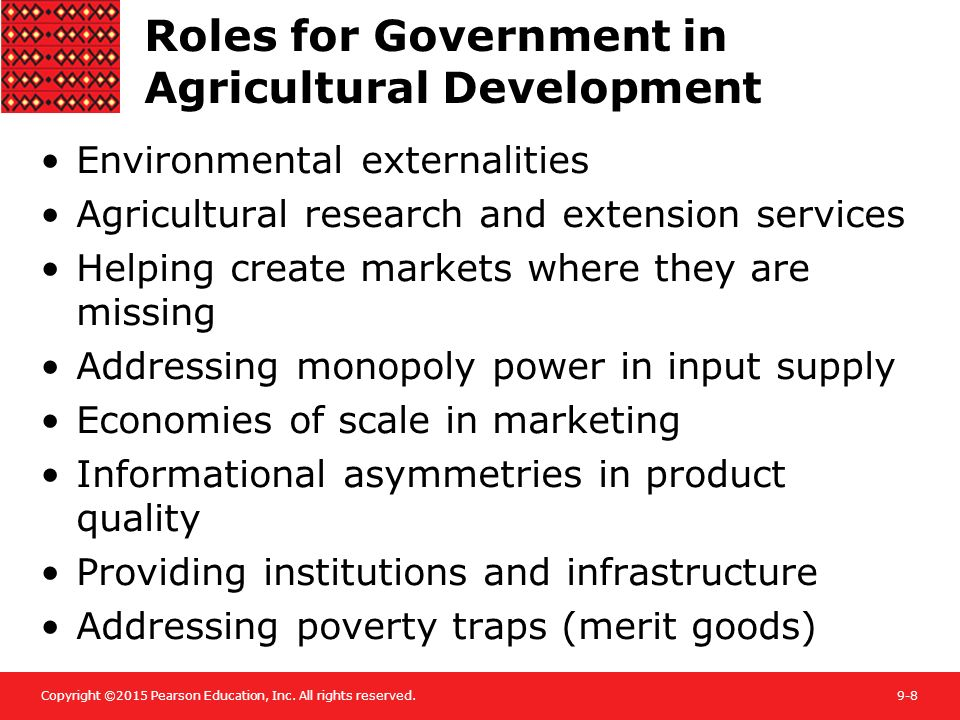 Roles for Government in Agricultural Development