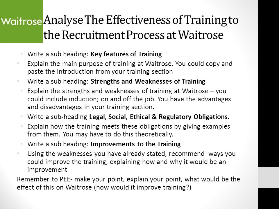 the analysis of recruitment and training An analysis of recruitment, training and retention practices in domestic and multinational enterprises in the country of brunei darussalam.