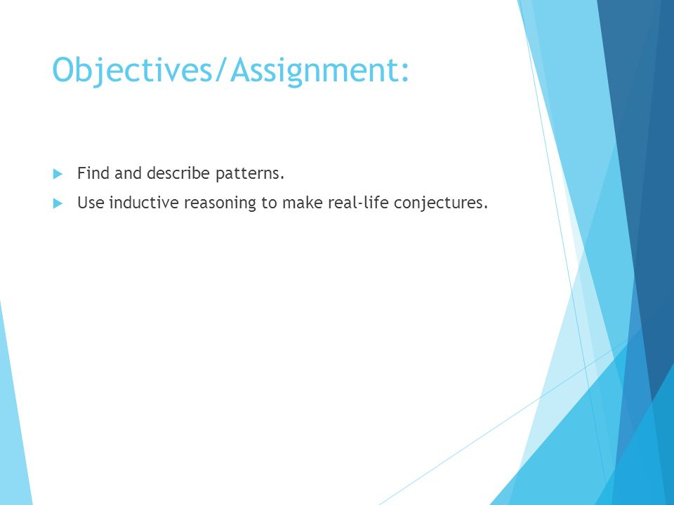 11 Patterns And Inductive Reasoning Ppt Download