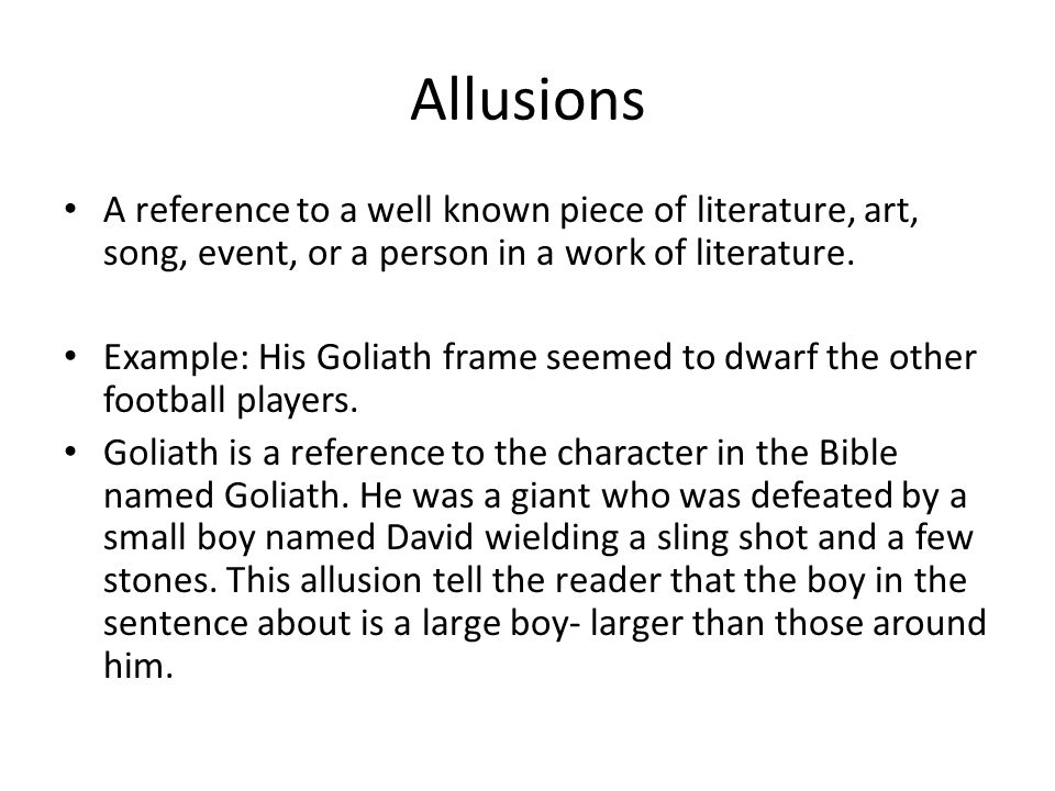 Biblical Allusion Examples In Literature Choice Image Example