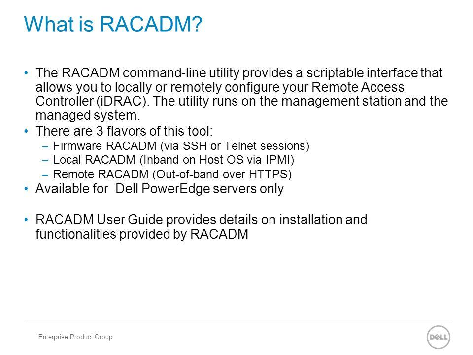 RACADM vs WSMAN  - ppt video online download