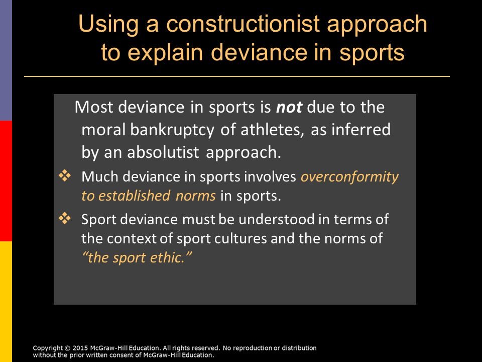 deviance examples in sport