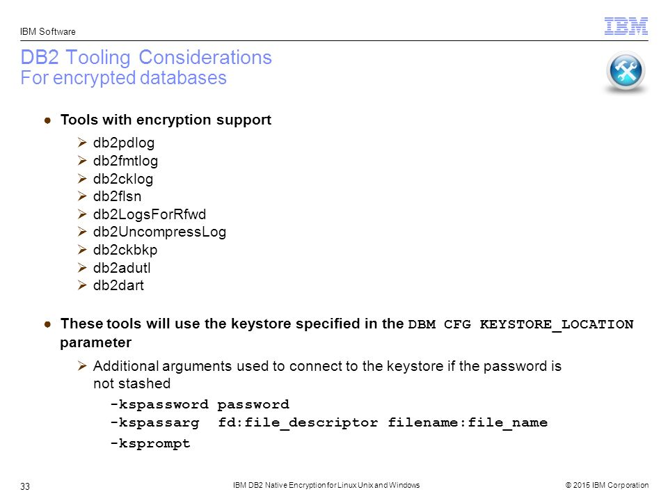 IBM DB2 Native Encryption for Linux Unix and Windows - ppt