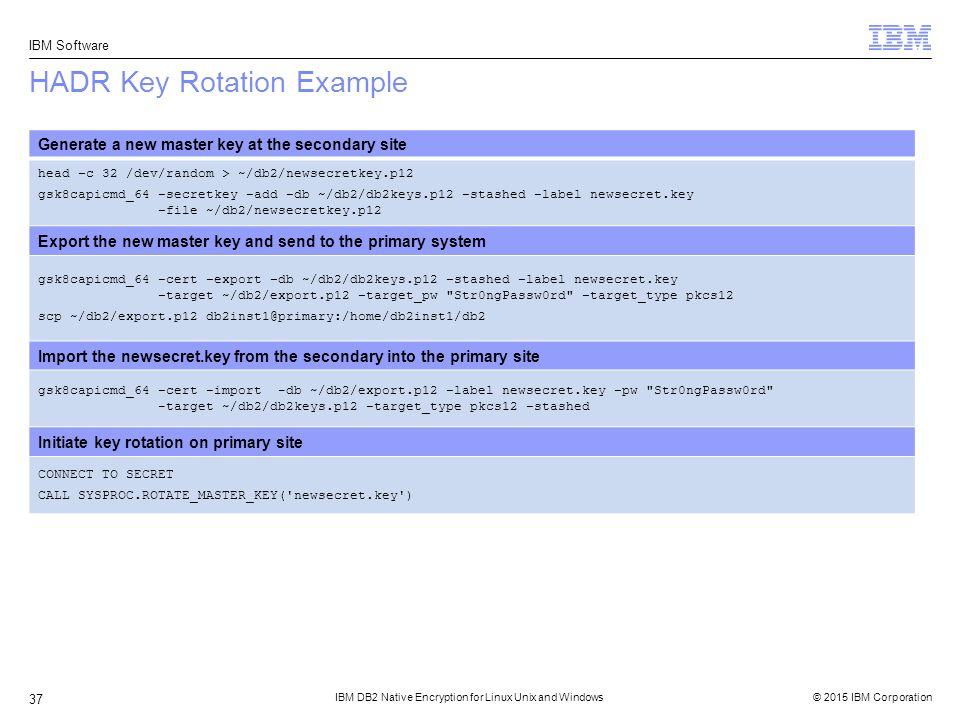 IBM DB2 Native Encryption for Linux Unix and Windows - ppt download