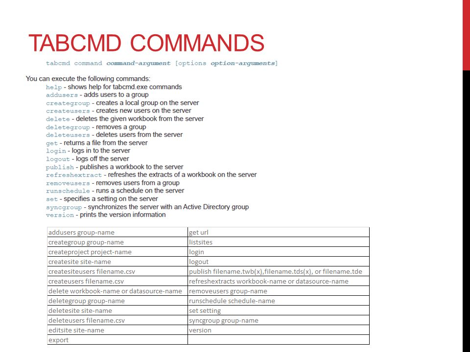Tabcmd Batch File