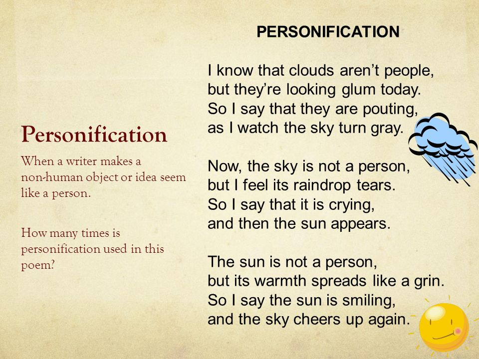 what is personification used for