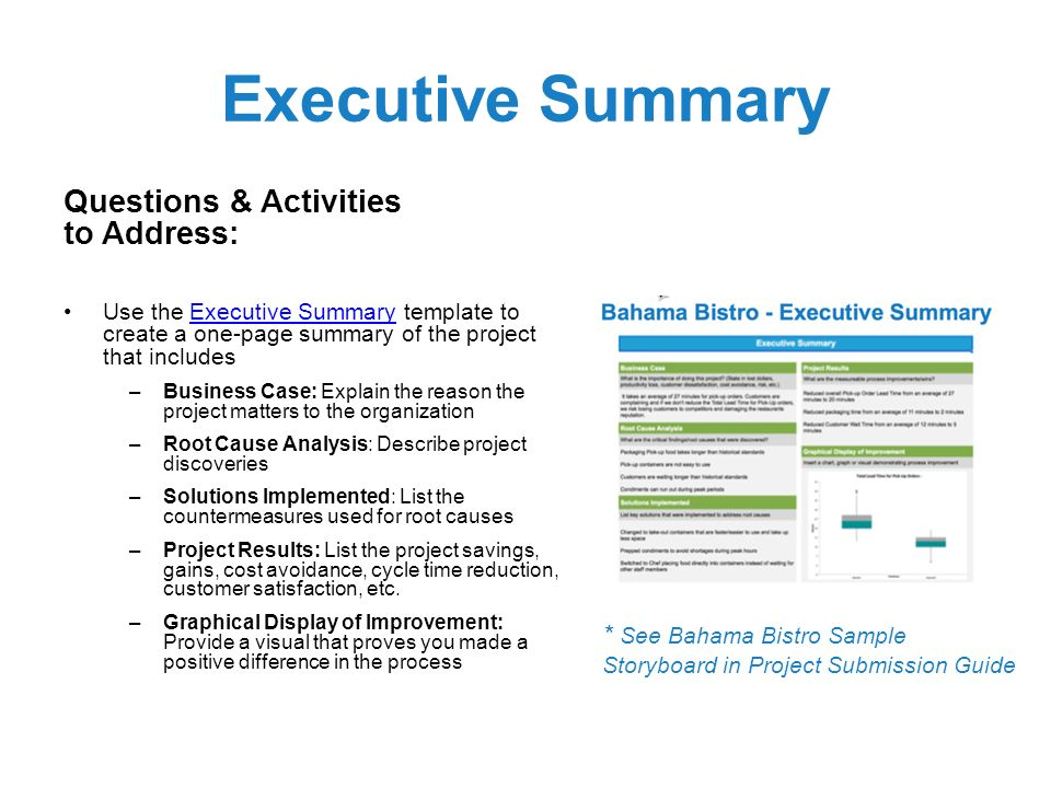 Black belt project storyboard template can be used in combination executive summary questions activities to address maxwellsz