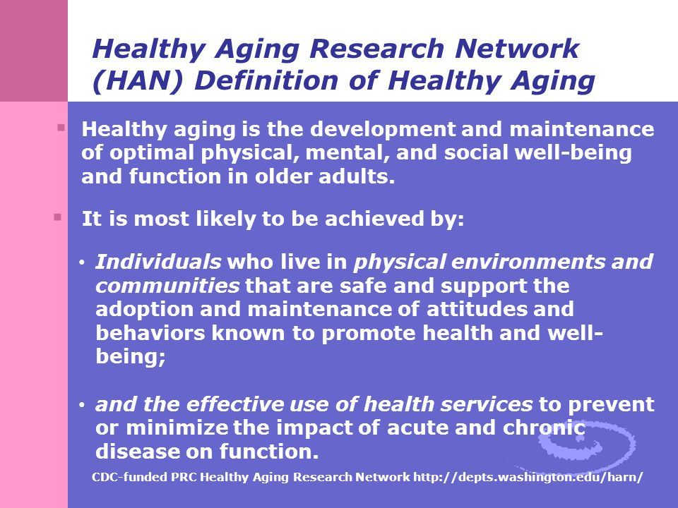 Definitions and Conceptual Frameworks for Healthy Aging ...