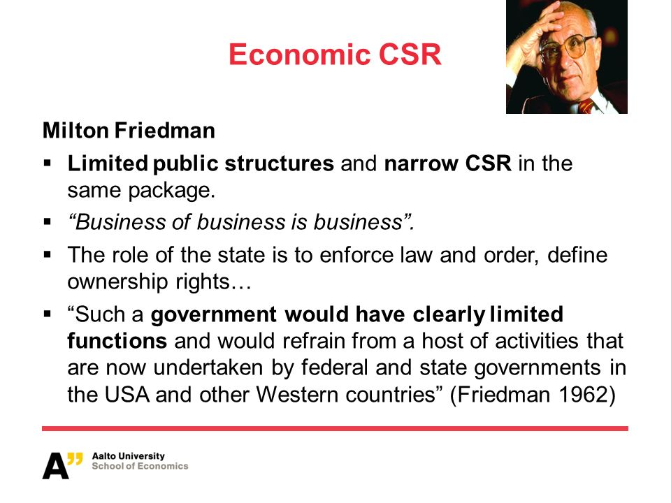 friedman csr
