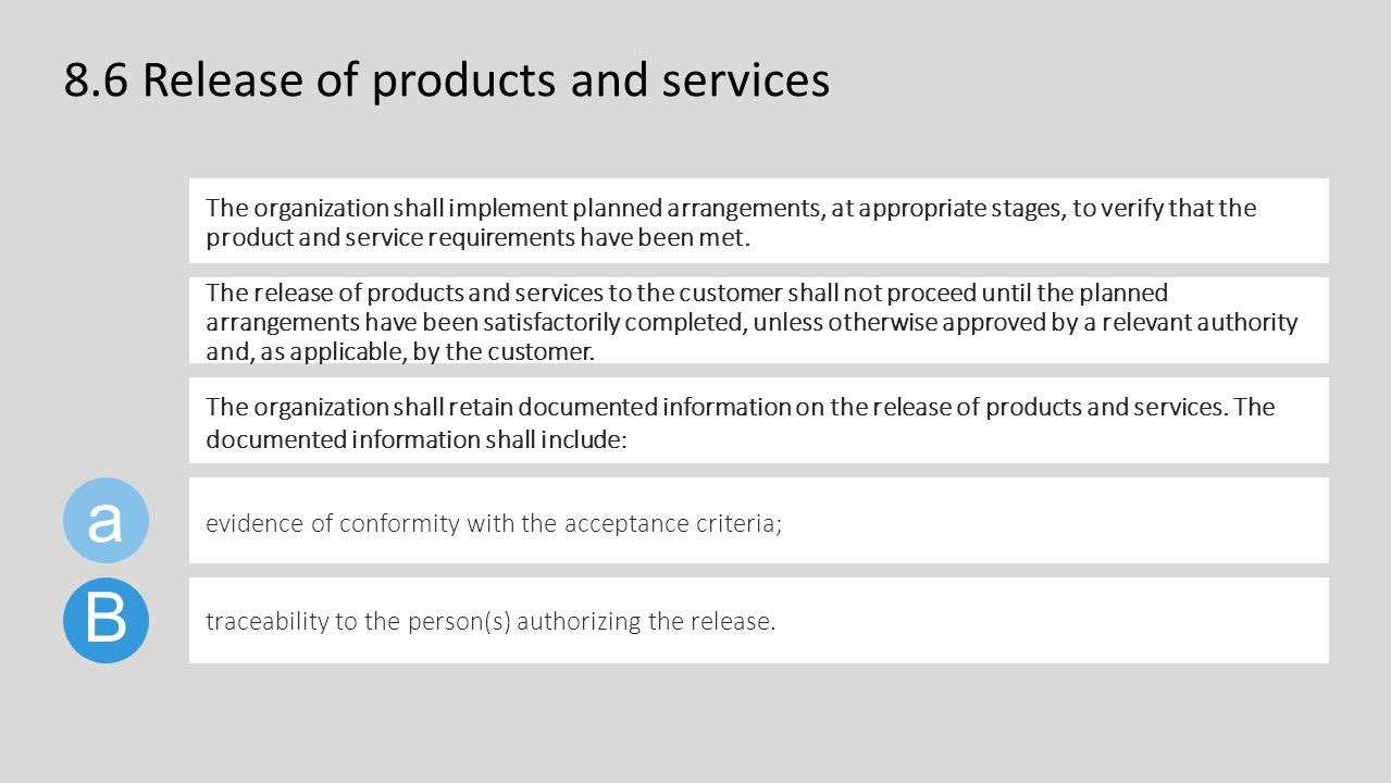 iso 9001 version 2015 clause 8.6