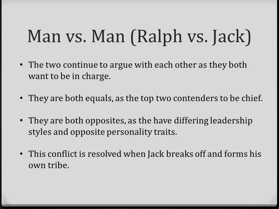 lord of the flies ralph vs jack