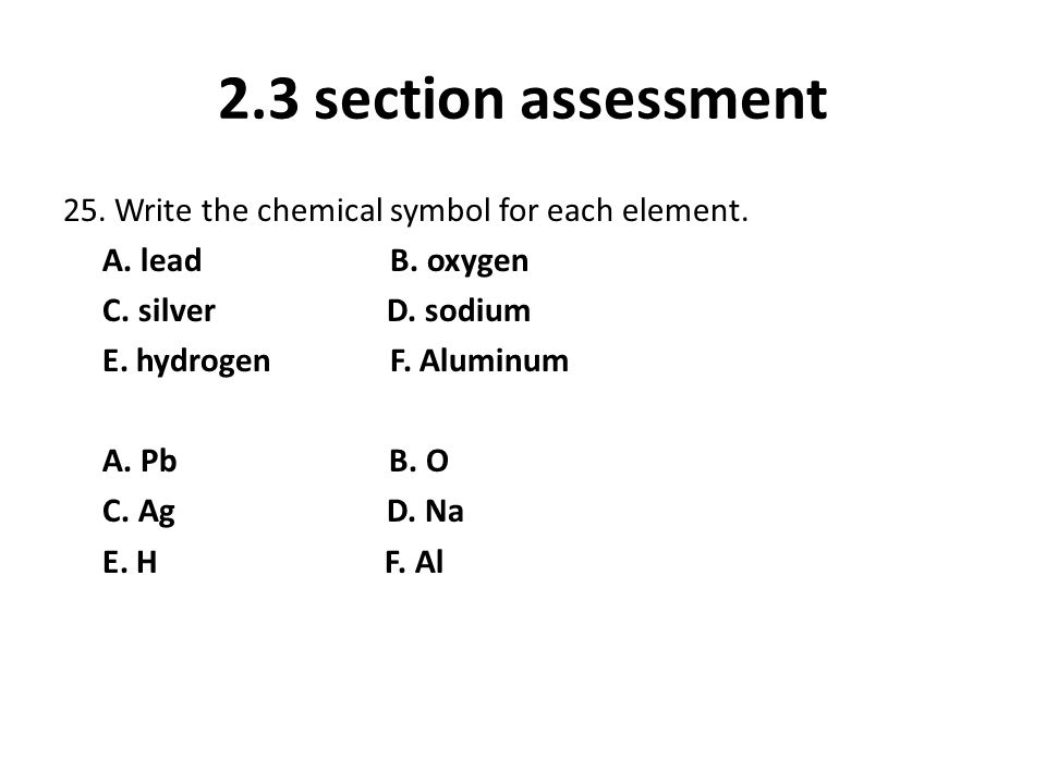 Chapter 2 Section Assessment Ppt Video Online Download