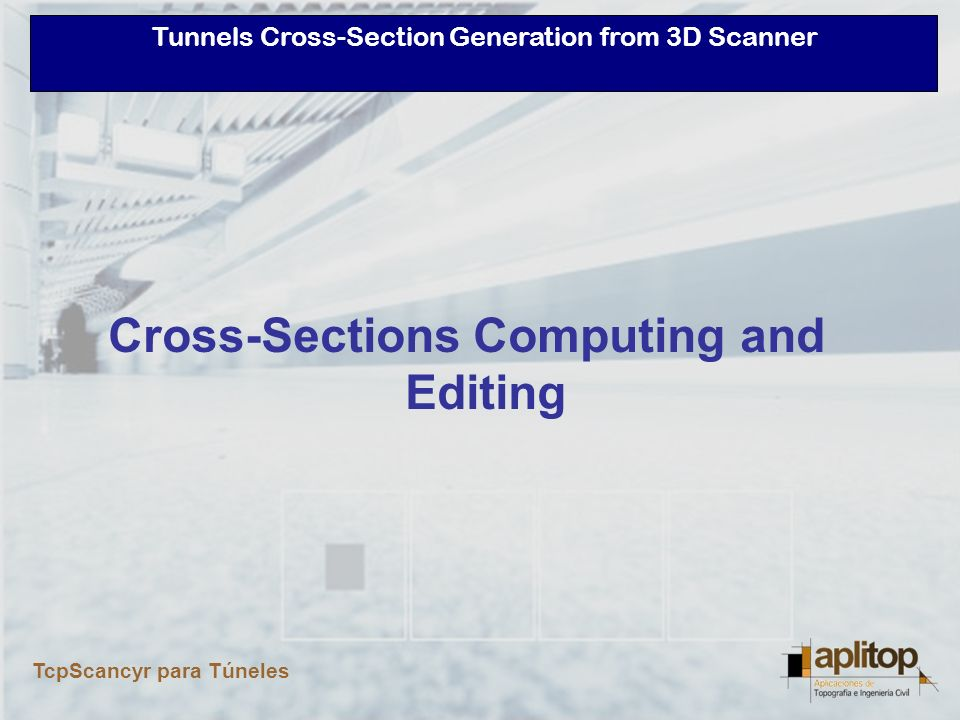 Cross-Sections Computing and Editing
