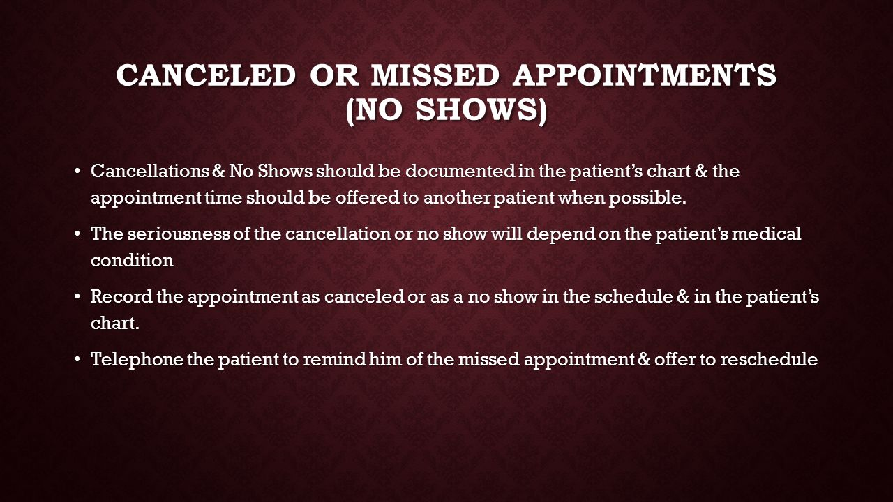 Scheduling Appointments & Receiving Patients - ppt video