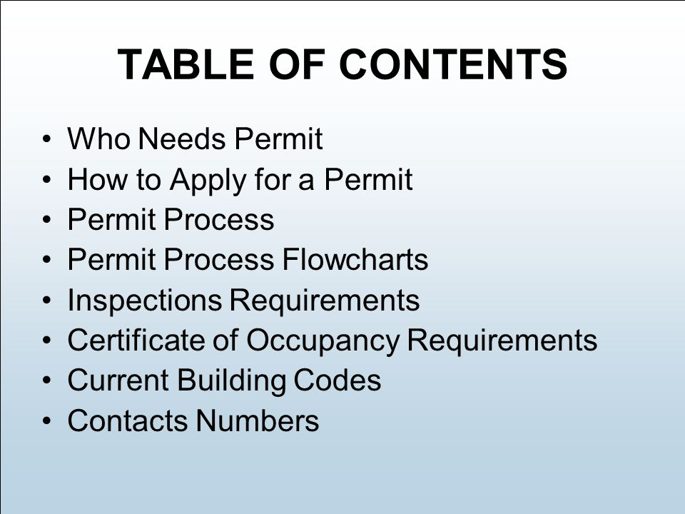 Permit Process & Application Guide - ppt download