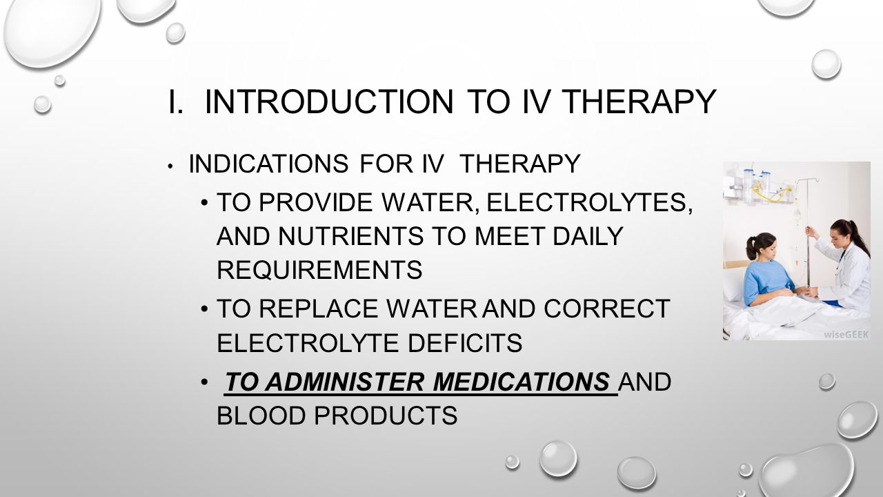 I. Introduction to IV Therapy
