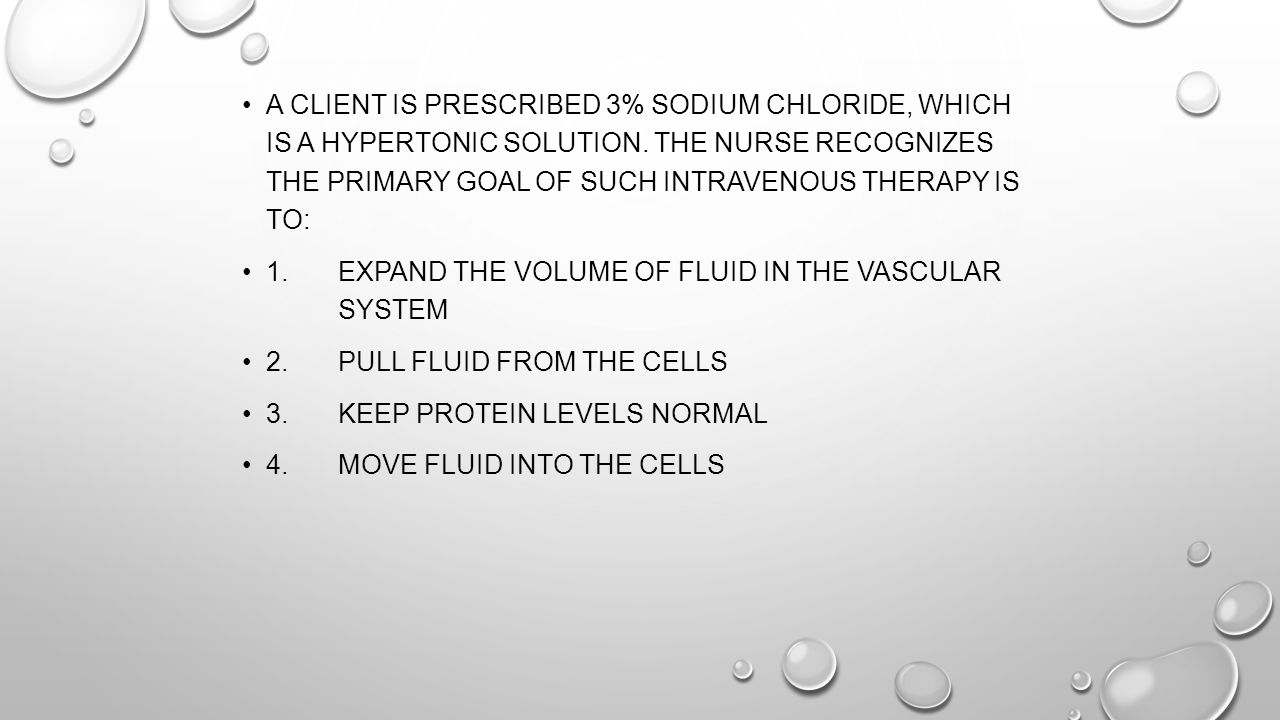1. Expand the volume of fluid in the vascular system