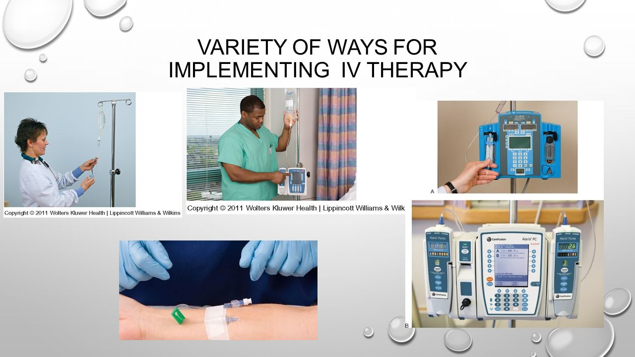 Variety of ways for Implementing IV Therapy