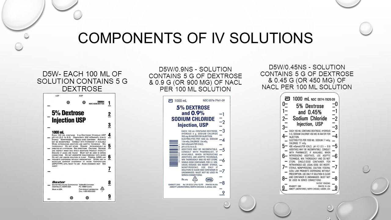 Components of IV Solutions