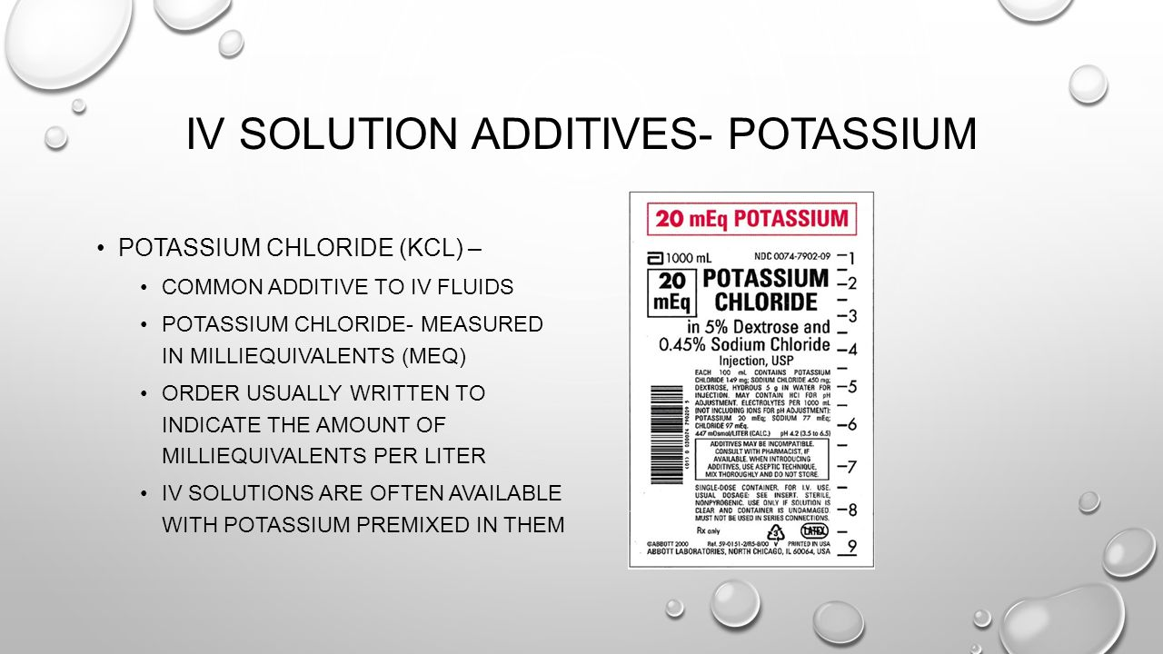 IV Solution Additives- Potassium