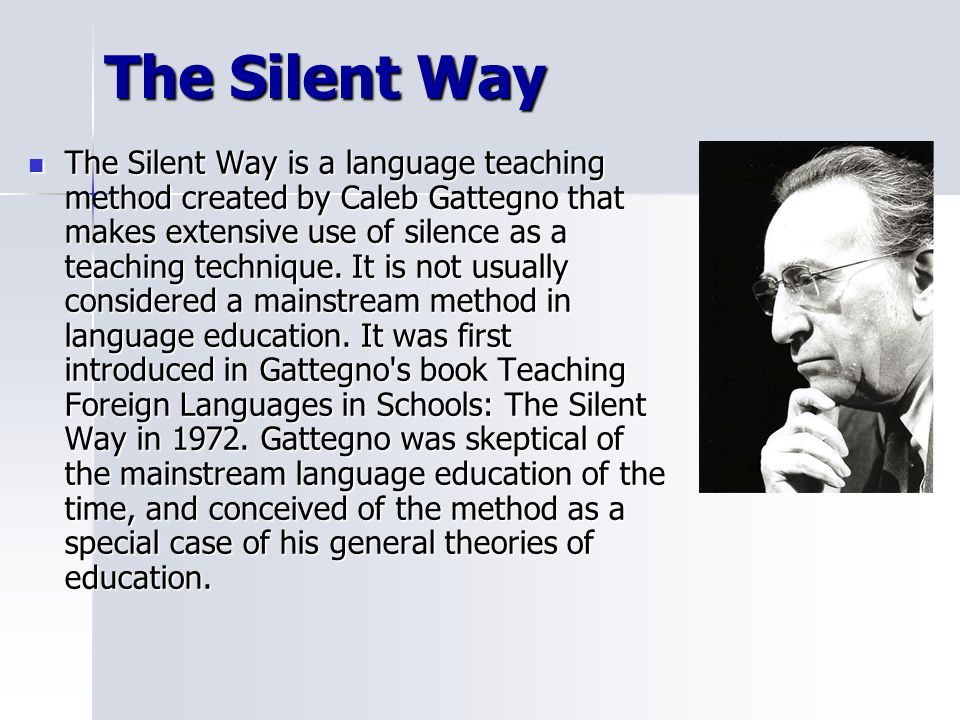 SILENT WAY TEACHING METHOD EPUB DOWNLOAD