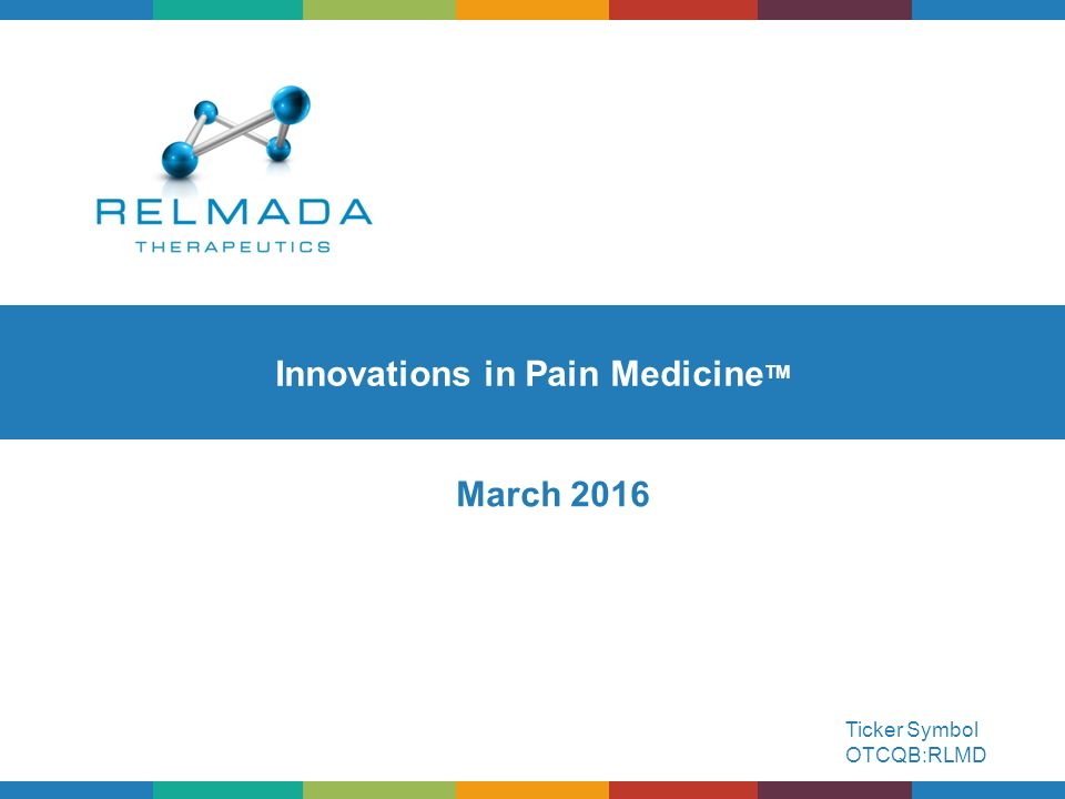Innovations In Pain Medicinetm Ppt Download