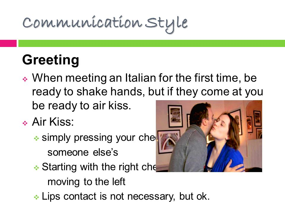 Culture workshop italy ppt video online download communication style greeting m4hsunfo