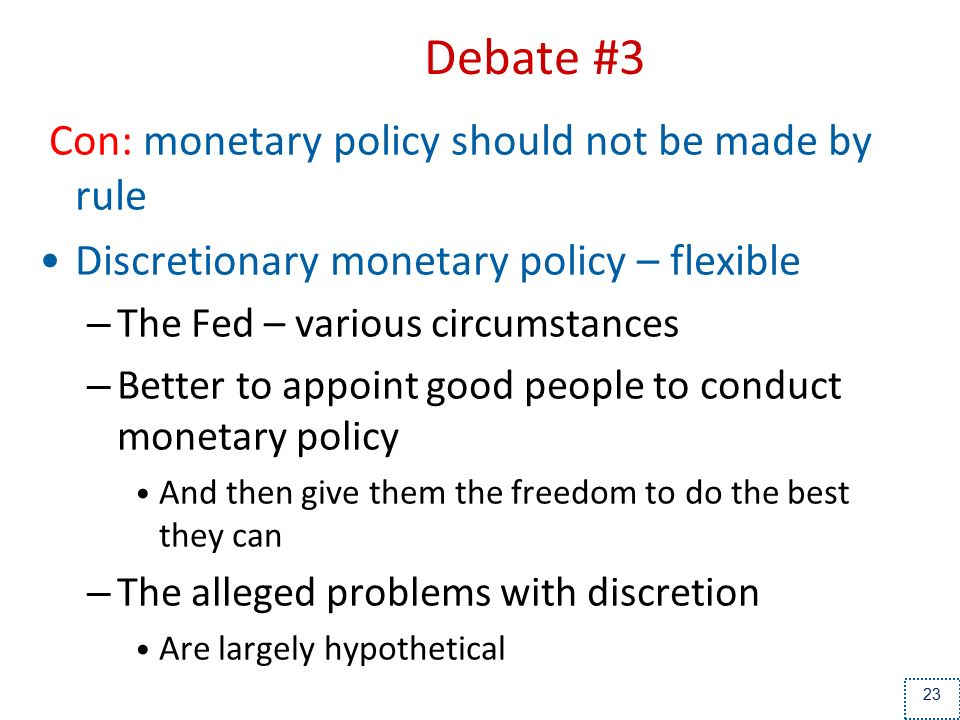 pros of monetary policy