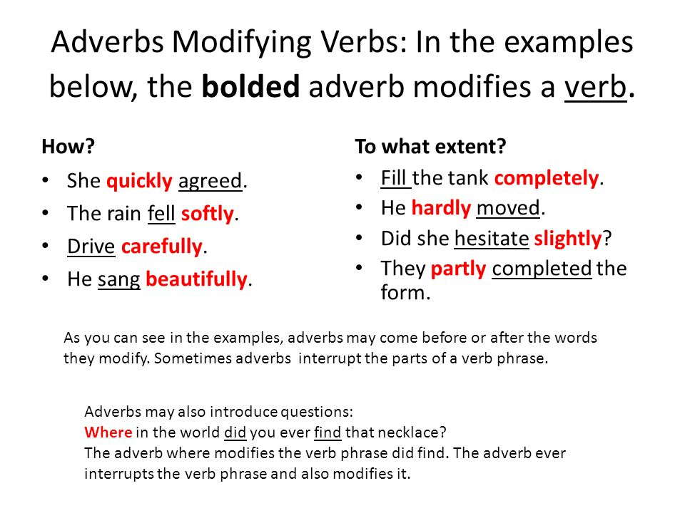 Adverb Modifying An Adjective Example Choice Image Example Cover
