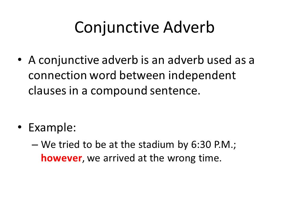 Examples Of Conjunctive Adverbs Image Collections Example Cover