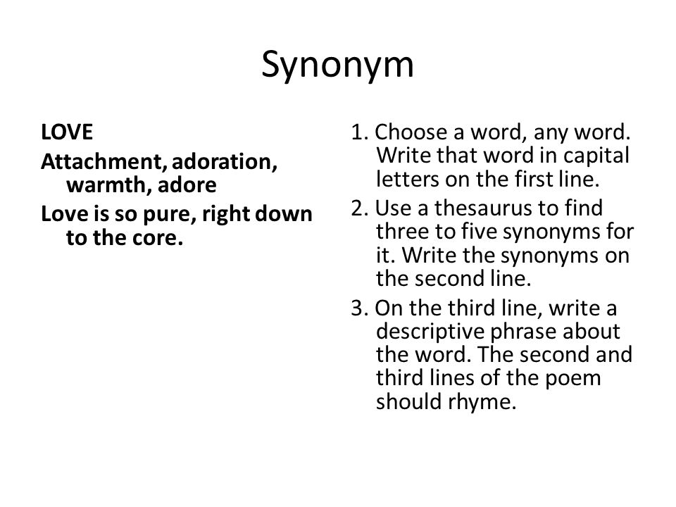 Core Synonym  Letters