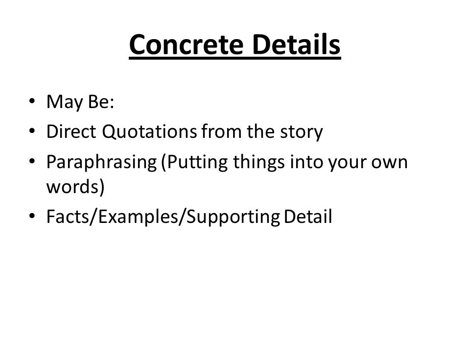 Speech Essay Outline Concrete Details May Be Direct Quotations From The Story Violence In The Media Essay also Essay Services Short Story Essay Notes  Ppt Download Mary Shelley Frankenstein Essay