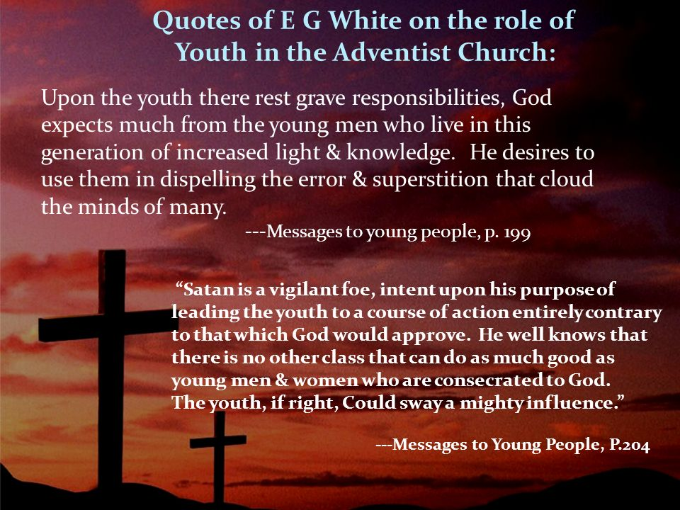 Message to the young people: ellen g. White: 9781508462927: amazon.