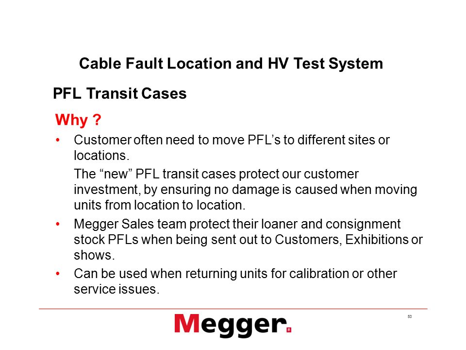Cable Fault Products from Megger  - ppt video online download