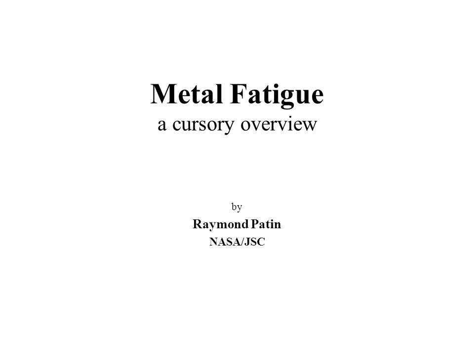 Metal Fatigue In Engineering Stephens Pdf